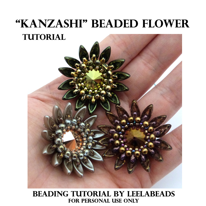 """KANZASHI"" BEADED FLOWER"