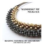 """KUMIHIMO"" PIP NECKLACE"