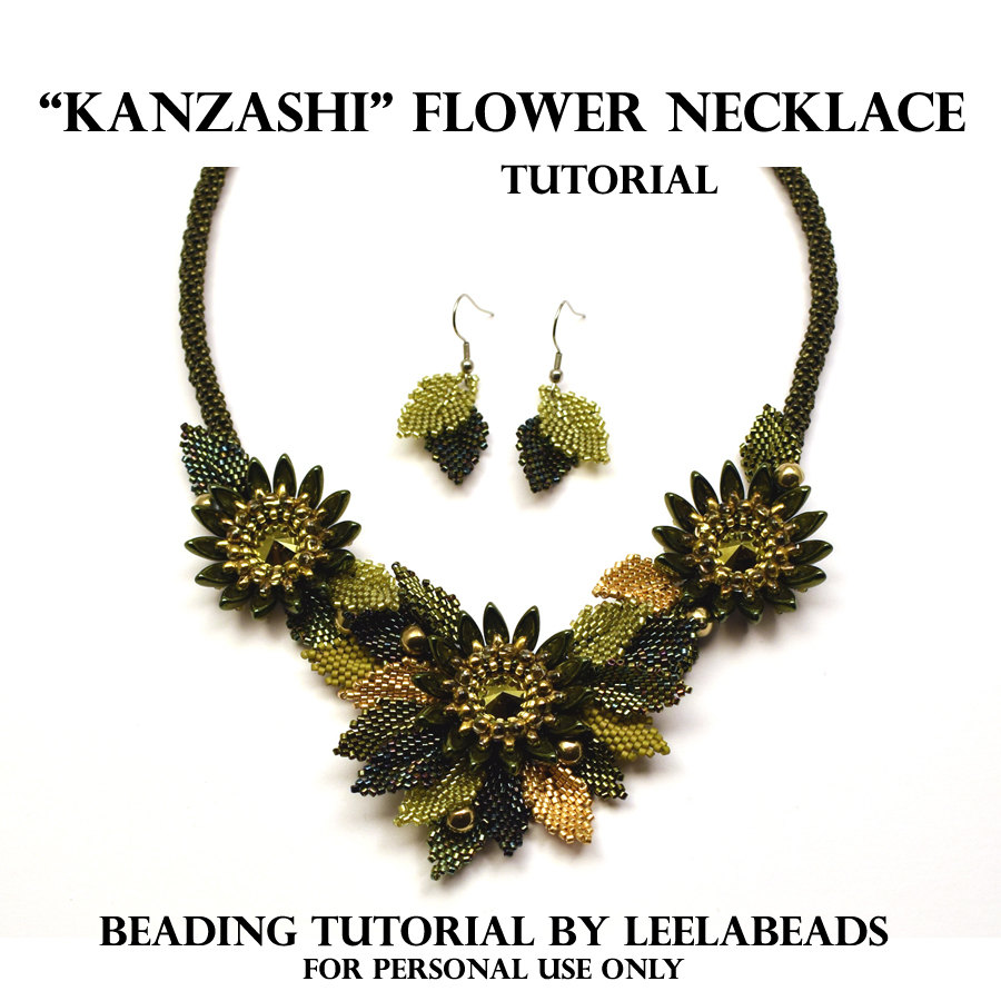 """KANZASHI"" FLOWER NECKLACE"