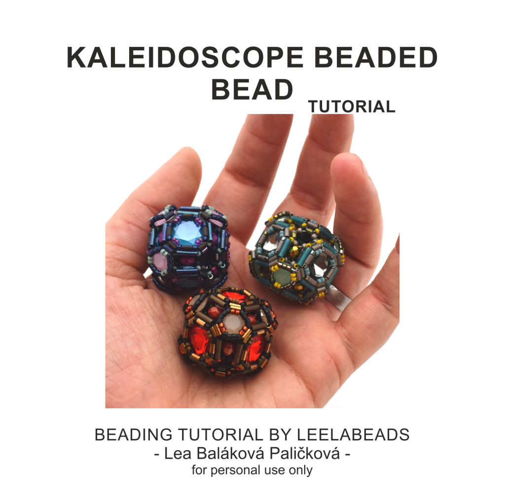 Kaleidoscope beaded bead